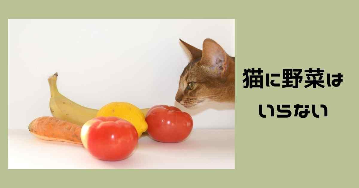 猫に野菜はいらない